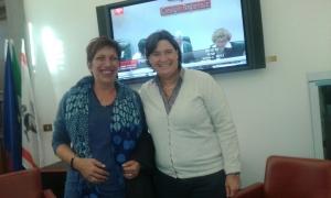 Anna Maria Tinacci e Stefania Saccardi Assessore alla Sanità Toscana